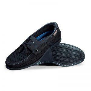 Zapato-Top-Sailer-Original-Estilo-Marinero-Color-Negro-Oleobuck-Perforado