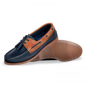 Zapato-de-Piel-Top-Sailer-Original-Estilo-Marinero-Color-Marino-Miel