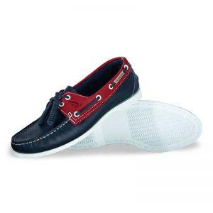 Zapato-de-Piel-Top-Sailer-Original-Estilo-Marinero-Color-Marino-Rojo