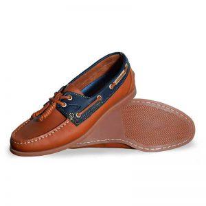 Zapato-de-Piel-Top-Sailer-Original-Estilo-Marinero-Color-Miel-Marino