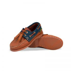 Zapato-Top-Sailer-Original-Estilo-Marinero-Color-Miel-Marino-Nino