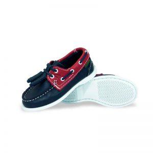 Zapato-Top-Sailer-Original-Estilo-Marinero-Color-Marino-Rojo-Nino